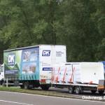 dk polyester vrachtwagen onderweg